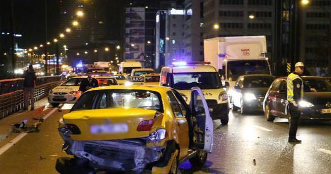 Mecidiyeköy'de trafik kazası