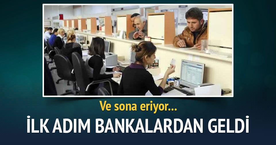 Bankalardan taşeronluğa son veren ilk adım
