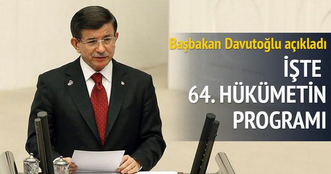 Başbakan Davutoğlu Hükümet Programı'nı açıkladı