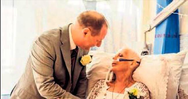 Ölümüne günler kala nişanlısıyla evlendi