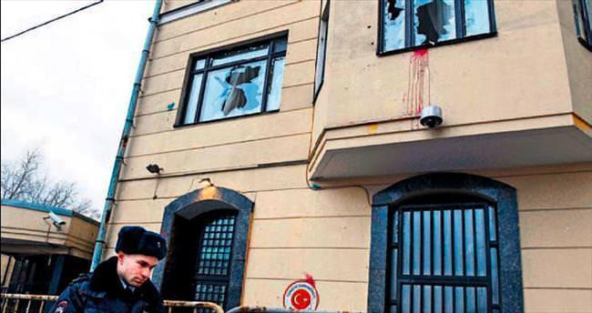Büyükelçiliğimize çirkin saldırı