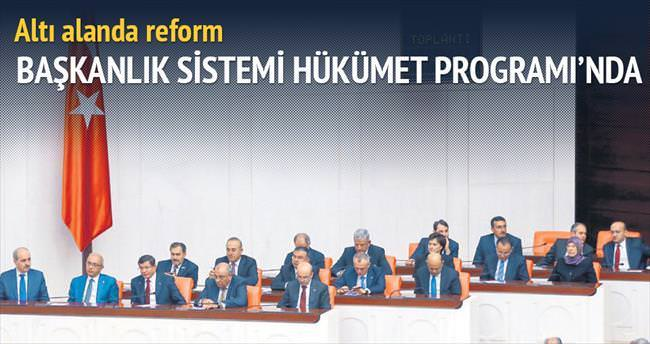 Başkanlık sistemi Hükümet Programı'nda