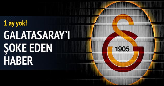 Galatasaraylı yıldızdan şok haber: 1 ay yok