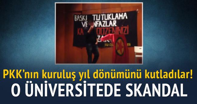 Boğaziçi'nde PKK'nın kuruluş yıl dönümü kutlaması