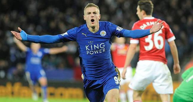 Leicester Cityli Vardy'den rekor
