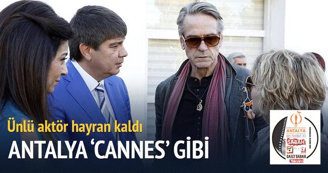 Jeremy Irons: Antalya Cannes gibi