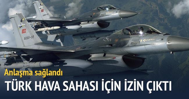 Türk hava sahası için izin çıktı