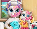 Angela ve Kızının Makyajı