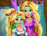 Rapunzel ve Kızının Makyajı