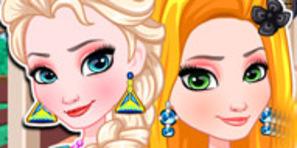 Rapunzel ve Elsa'nın Makyajı