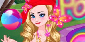 Elsa ile Anna Tatilde