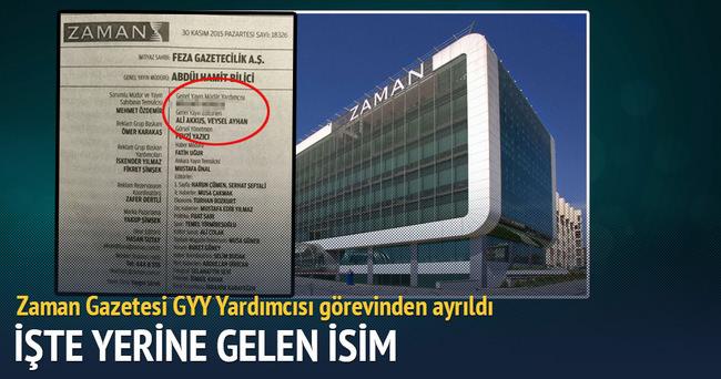 Zaman Gazetesi GYY Yardımcısı Mehmet Kamış istifa etti