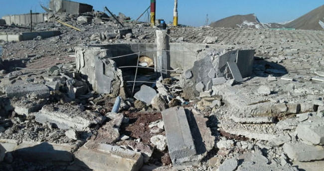 PKK'ya ait yapılar yerle bir edildi