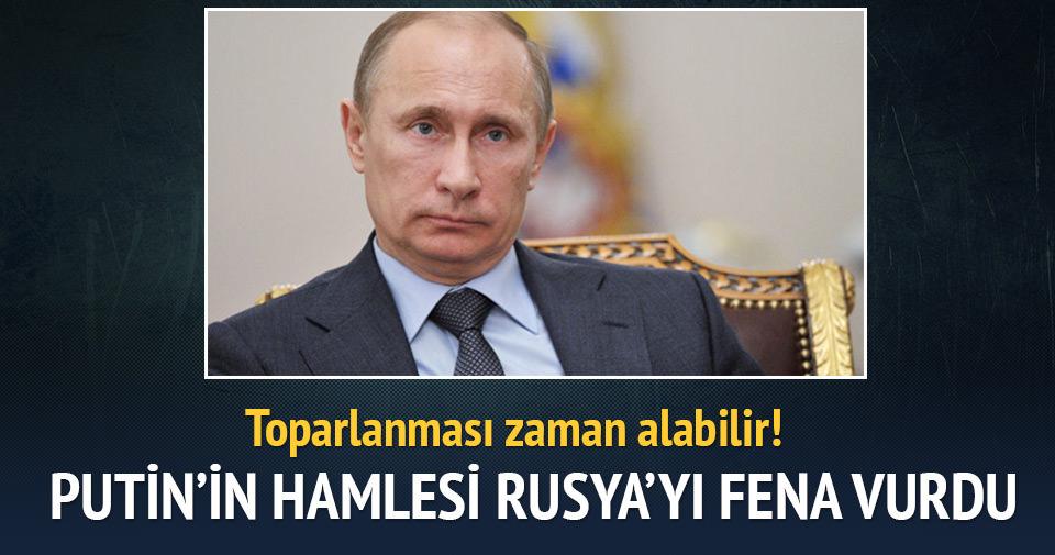 Putin'in hamlesi Rusya'yı vurdu