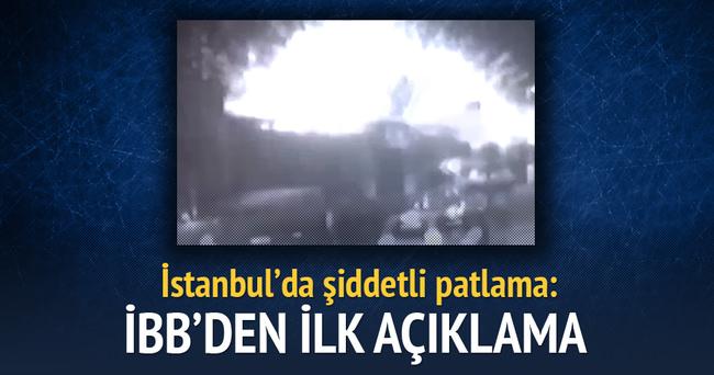 İBB'den flaş patlama açıklaması