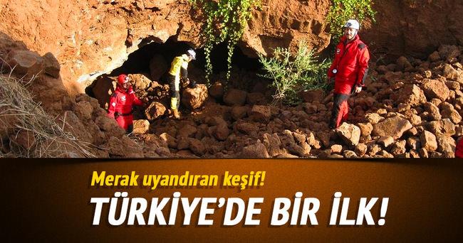Hatay'da lav tüpü mağarası bulundu