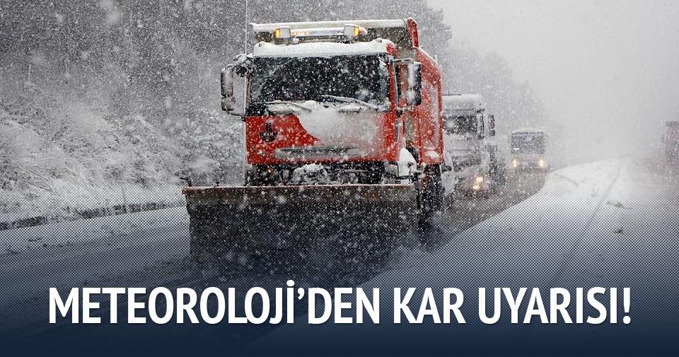 Kar ne zaman yağacak? Meteoroloji'den kar yağışı uyarısı!
