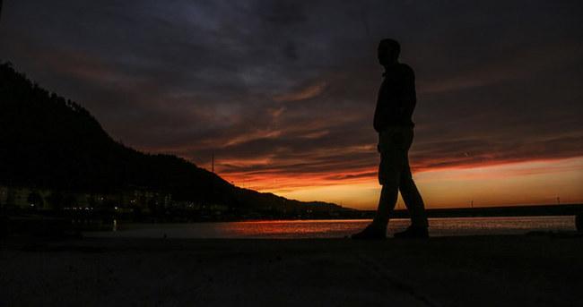 Abana'da gün batımı
