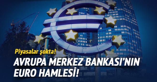 Euro birden yükseldi