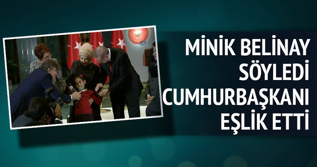 Minik Belinay söyledi Erdoğan eşlik etti