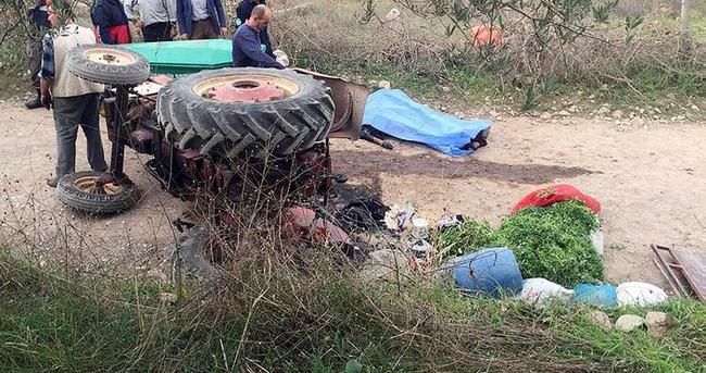 Yeni evli genç traktör kazasında öldü