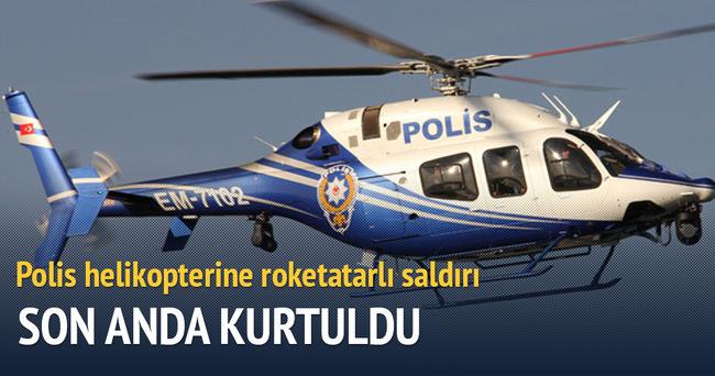 Polis helikopterine roketli saldırı