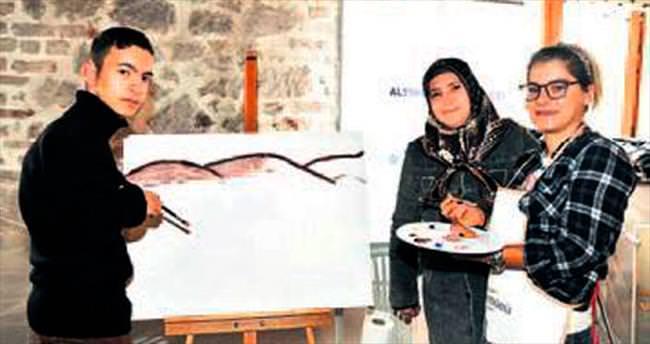 Engelli çocuklara sanat çalıştayı