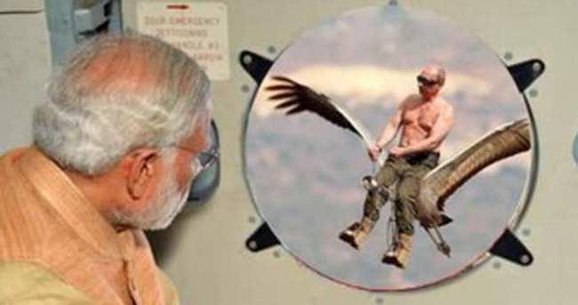 Hintliler'den fotoşopa Putin'li espriler...