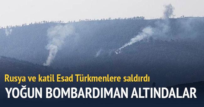 Katil Esad ve Rusya Türkmenlere saldırdı