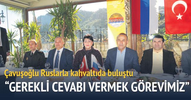 Çavuşoğlu Alanya'da Ruslarla kahvaltı yaptı