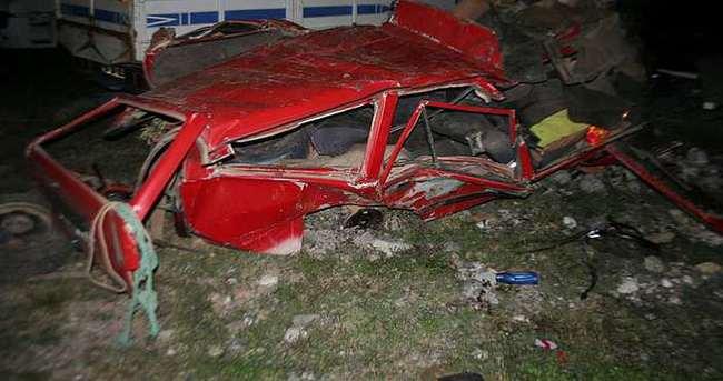 Düğün dönüşü feci kaza: 4 ölü