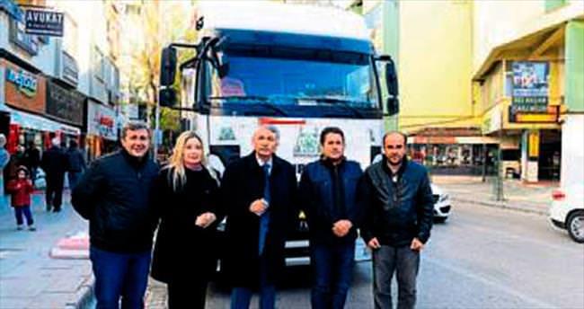 Isparta Belediyesi yardım gönderdi