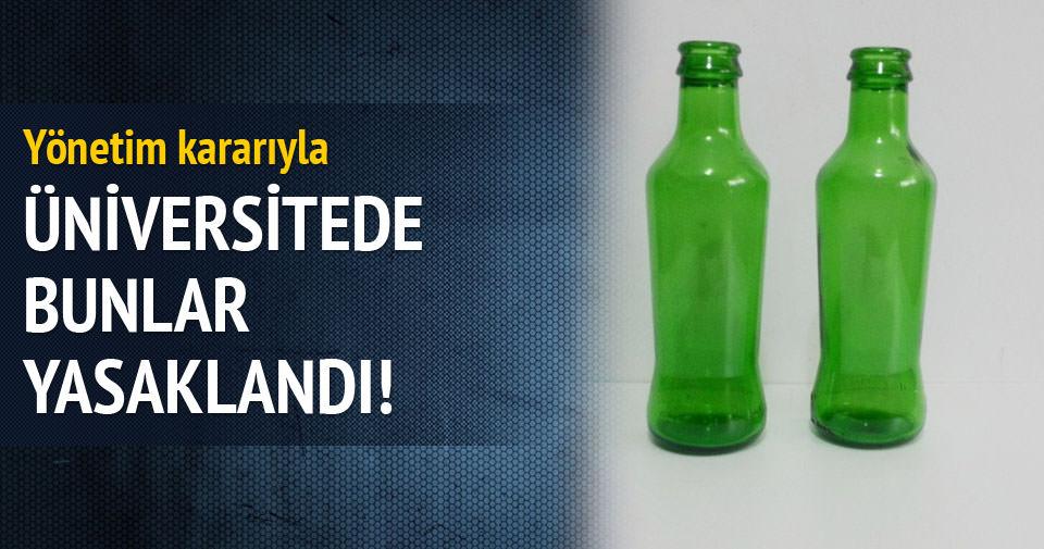 İstanbul Üniversitesi'nde cam şişeli içeceğe yasak