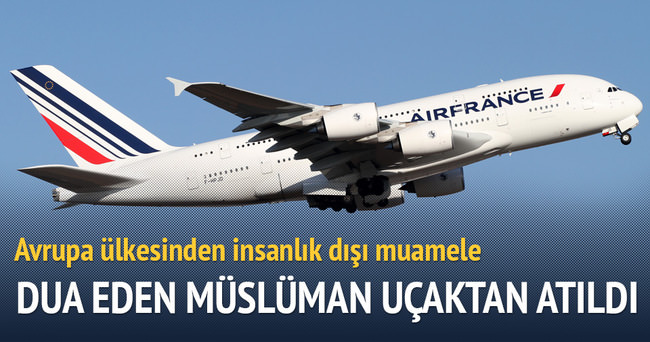 Dua eden müslüman genç uçaktan atıldı