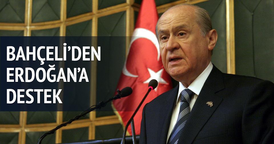 Devlet Bahçeli'den Cumhurbaşkanı Erdoğan'a destek