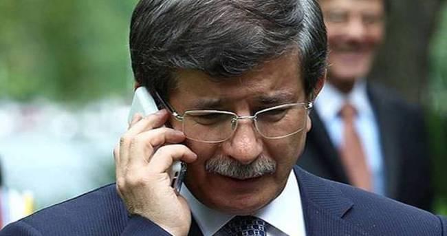 Davutoğlu'ndan şehit eşine taziye telefonu