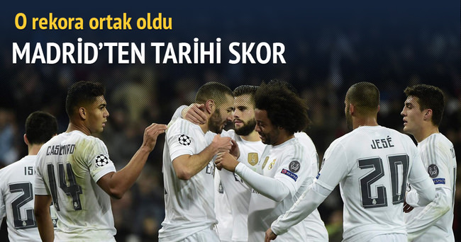 Real Madrid'ten tarihi galibiyet