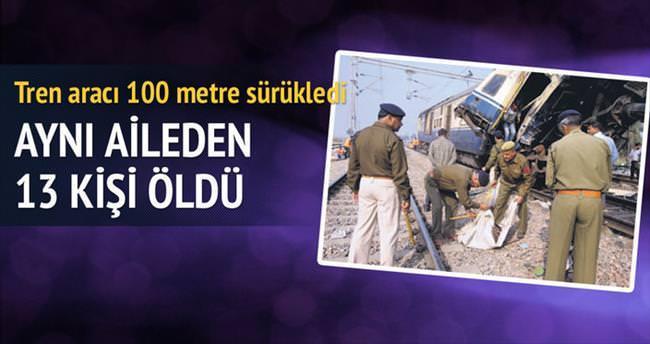 Tren kazasında aynı aileden 13 kişi öldü