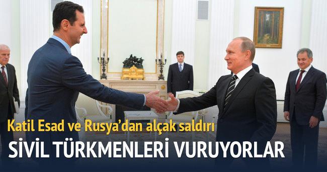 Esed ve Rusya'nın Türkmenlere saldırıları