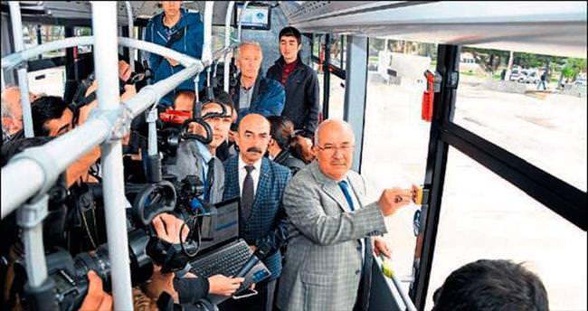 Mersin'deki otobüslere panik butonu konuldu