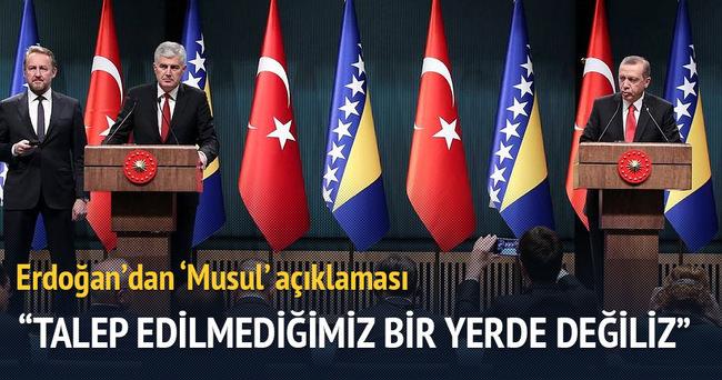 Cumhurbaşkanı Erdoğan: Talep edilmediğimiz bir yerde değiliz
