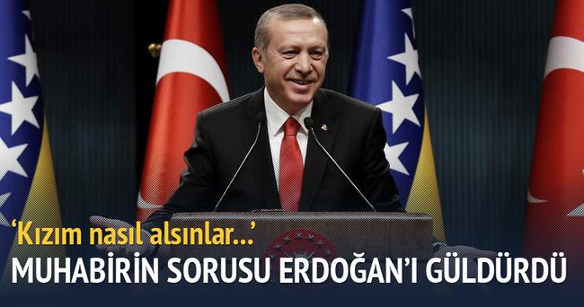 Muhabirin sorusu Cumhurbaşkanı Erdoğan'ı güldürdü