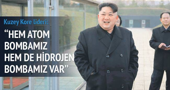 'Hidrojen bombamız var'