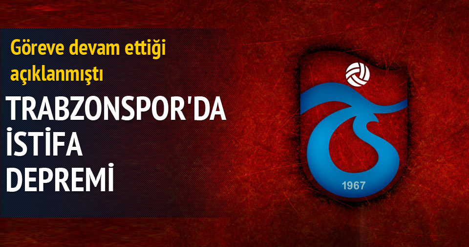 Trabzonspor'da Süleyman Hurma istifa etti!