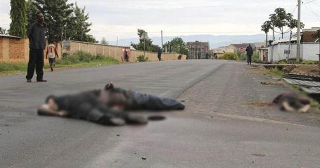 Burundi'de sokaklar ceset dolu