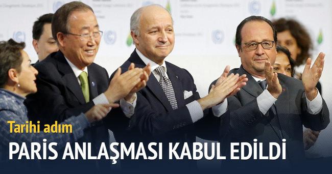 Paris Anlaşması kabul edildi