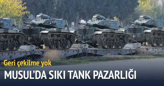 Musul'da tank pazarlığı