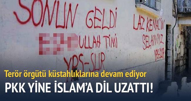 PKK'dan çirkin duvar yazısı