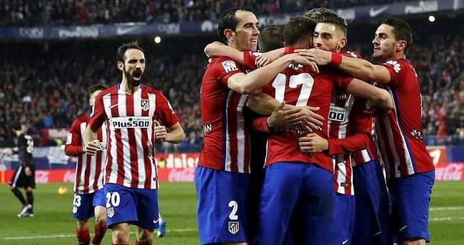 Atletico Madrid liderliğe ortak oldu