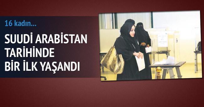 Suudi Arabistan'da 16 kadın seçildi